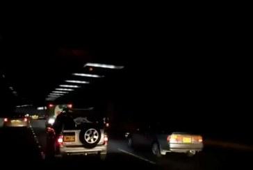 Daño en un circuito de energía dejó a oscuras el hundimineto de la Avenida Colombia