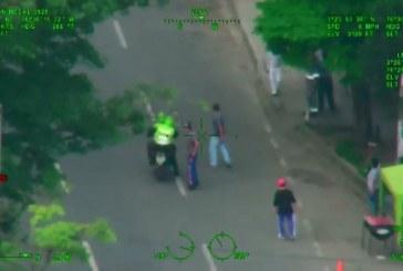 En operativos desde el aire, Policía de Cali capturó a cuatro presuntos delincuentes