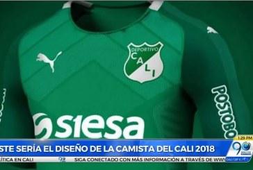 Este sería el diseño de la nueva camiseta del Deportivo Cali para el 2018