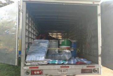 Abandonan camión con 450 kilos de marihuana en el corregimiento de Mulaló
