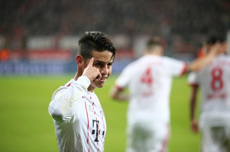 James Rodríguez brilló en el partido del Bayern Múnich contra Leverkusen