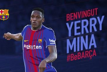 ¡Ya es oficial! El futbolista caucano Yerry Mina es nuevo jugador del FC Barcelona