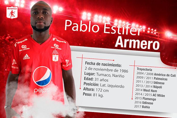 ¡Oficial! Pablo Armero volverá a jugar en el América de Cali