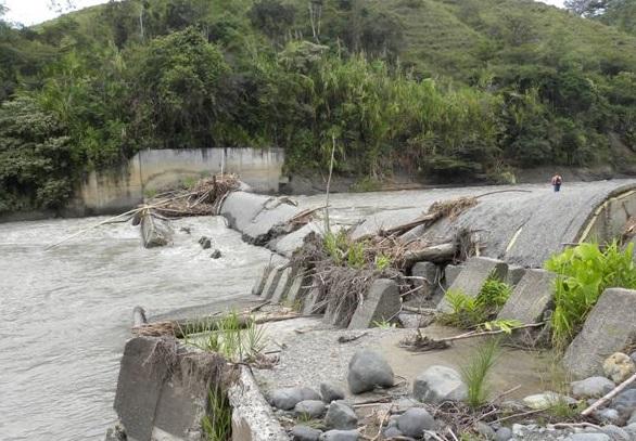 Se retoman obras de la bocatoma suspendidas por lluvias en Bugalagrande y Andalucía