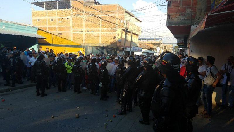 En Yumbo también hubo protestas por visita de 'Timochenko'