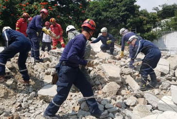 Bomberos de Cali y de otros países simularon rescate de estructura colapsada