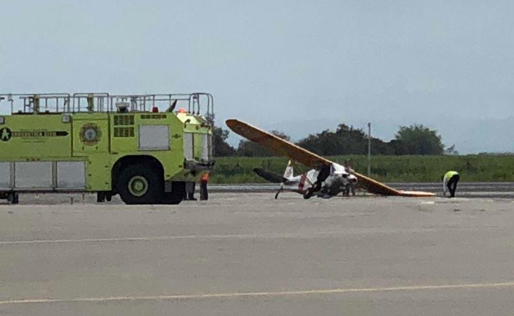 Accidente de avioneta paraliza operaciones en el aeropuerto Alfonso Bonilla Aragón