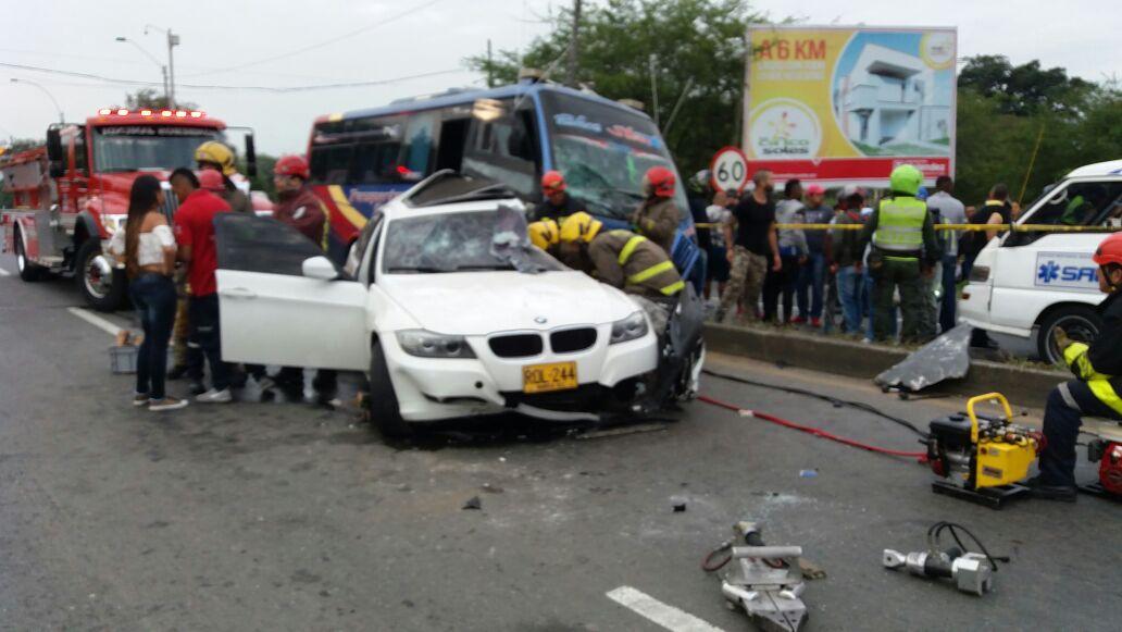 Accidente de tránsito dejó una persona muerta en la vía Cali-Jamundí