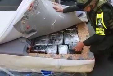 Narcocolchones: caen 500 kilos de marihuana camuflada en colchones en vía a Palmira