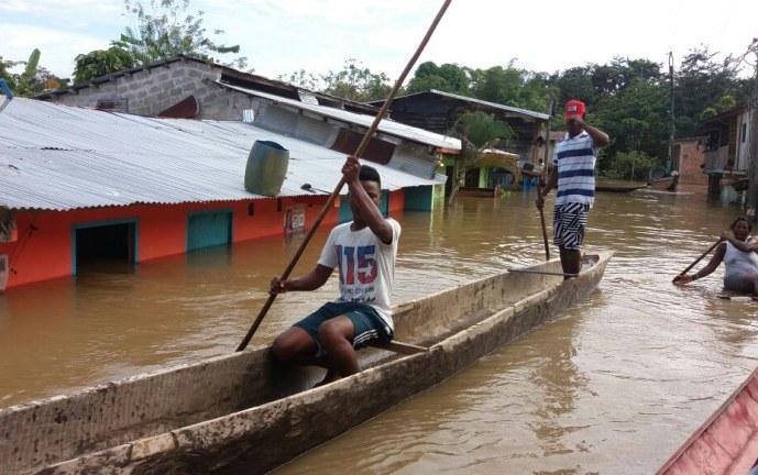 Emergencia en el Chocó por desbordamiento de varios ríos