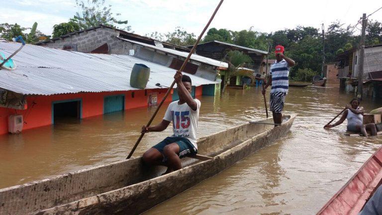 Emergencia en el Chocó por inundaciones de los ríos Atrato, San Juan, Andagueda y Condóto