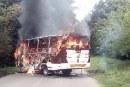 Hostigamientos y buseta quemada en Corinto tras inicio de paro armado de ELN
