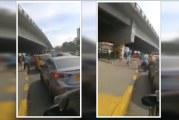 A la cárcel limpiavidrios que agredieron a taxista y policías en la autopista Sur