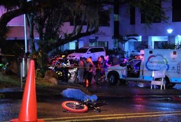 Menor perdió la vida tras estrellarse de frente con camioneta en barrio San Fernando