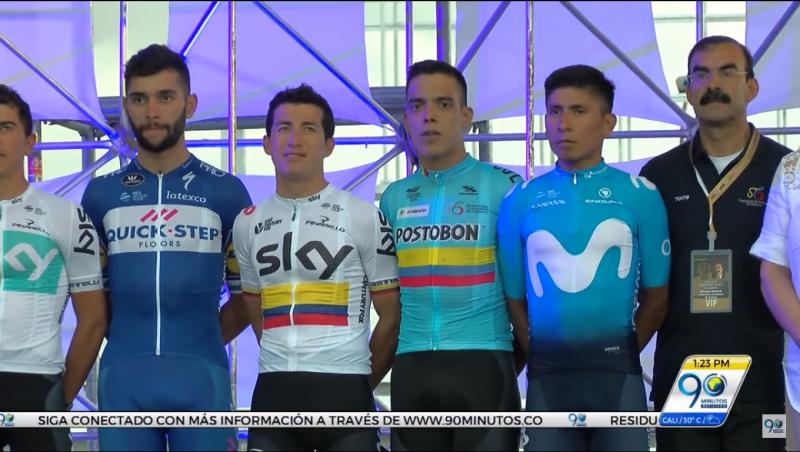 La presentación oficial de la carrera 2.1 Colombia Oro y Paz alegró a los palmireños