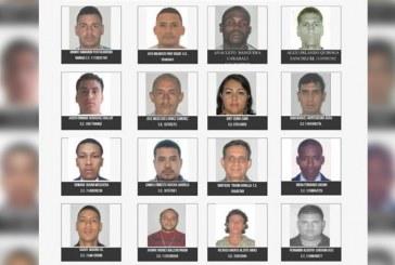 Autoridades revelan listado de los 20 prófugos más buscados del Valle y Cali