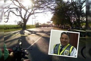 Agente de tránsito murió tras ser arrollado por vehículo que transportaba droga