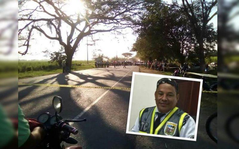 Agente de tránsito murió tras ser atropellado por vehículo que transportaba marihuana