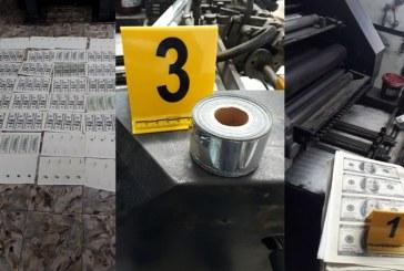 Autoridades desmantelan taller de falsificación de dólares en Palmira, Valle