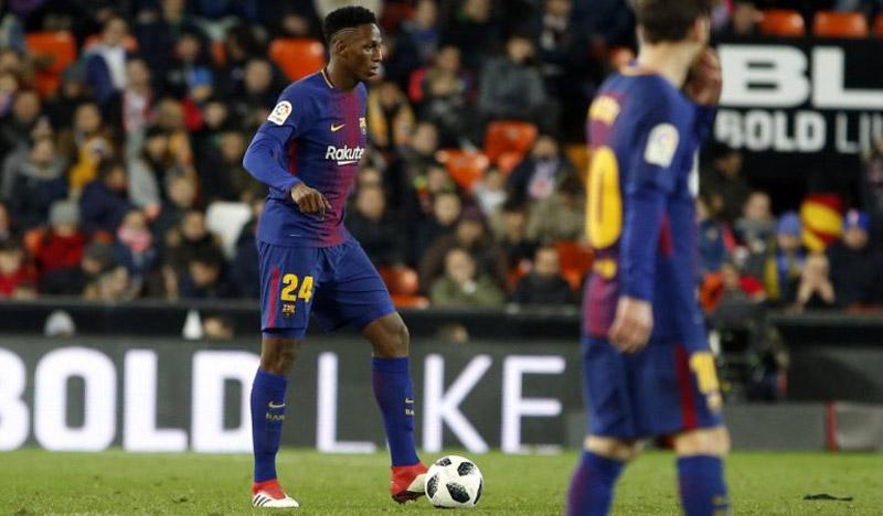 Yerry Mina, convocado en Barcelona para el partido contra Levante