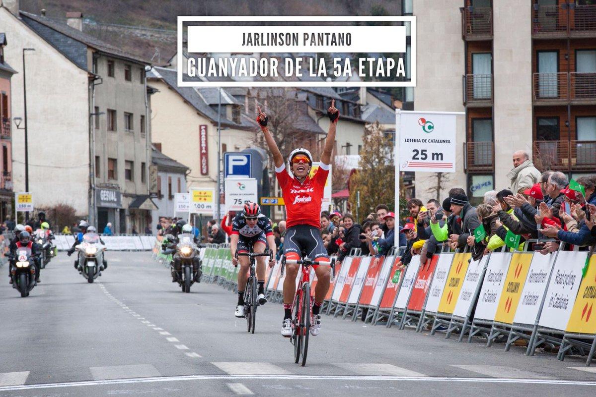 Pantano fue primero en la quinta etapa de la Vuelta a Cataluña
