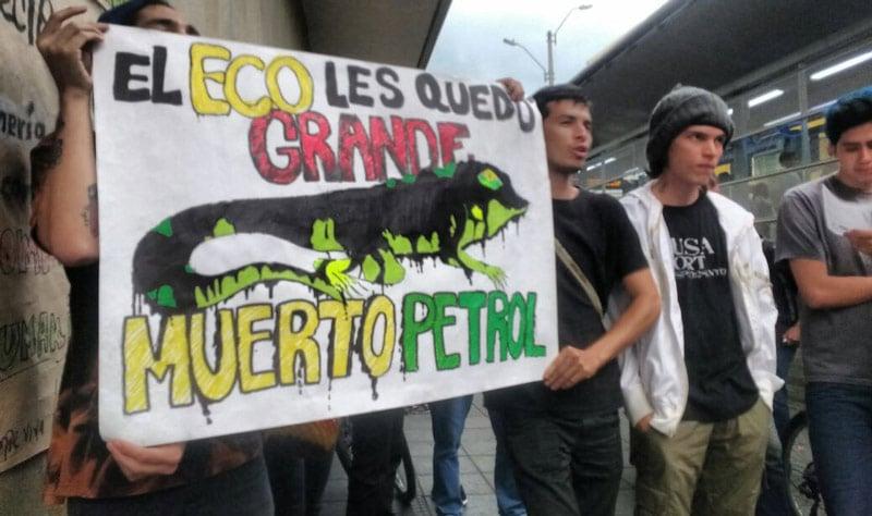 Ecologistas en Cali rechazan daño ambiental causado por Ecopetrol en Barrancabermeja