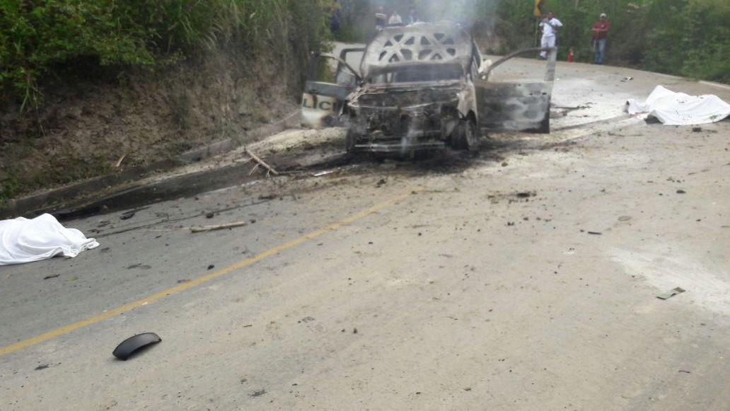 Dos uniformados de la policía murieron tras emboscada en el Cauca