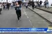 Visita de Álvaro Uribe a Popayán desató enfrentamientos entre estudiantes y fuerza pública