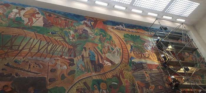 Obras del maestro Hernando Tejada a punto de finalizar trabajos de restauración