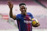 Yerry Mina podría ser tenido en cuenta en la nómina titular del Barcelona