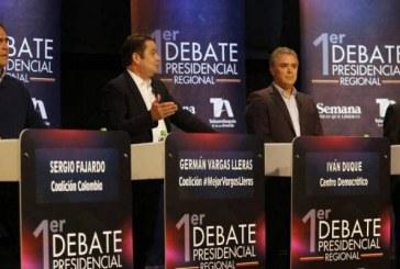 Primer debate presidencial: candidatos se le midieron a responder los temas más destacados