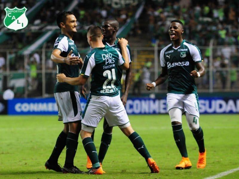 Deportivo Cali goleó 3-0 a Danubio en Palmaseca por Copa Sudamericana