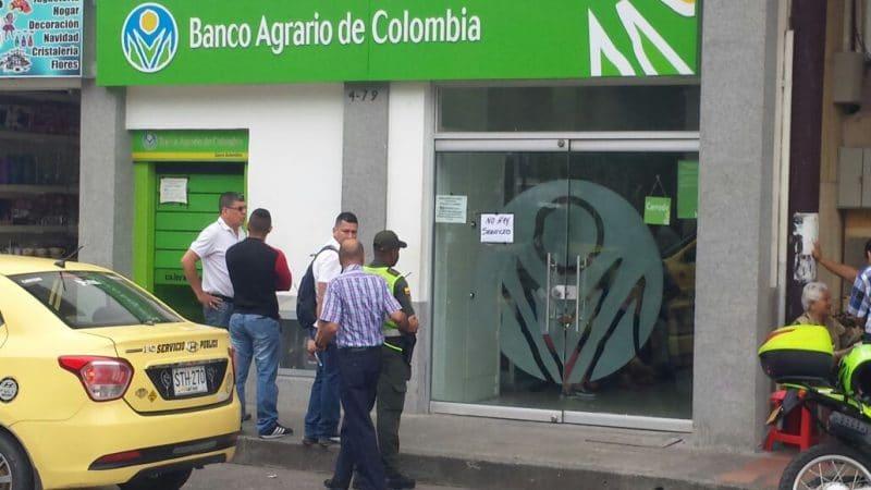 Autoridades investigan presunto robo millonario al Banco Agrario en Cartago, Valle