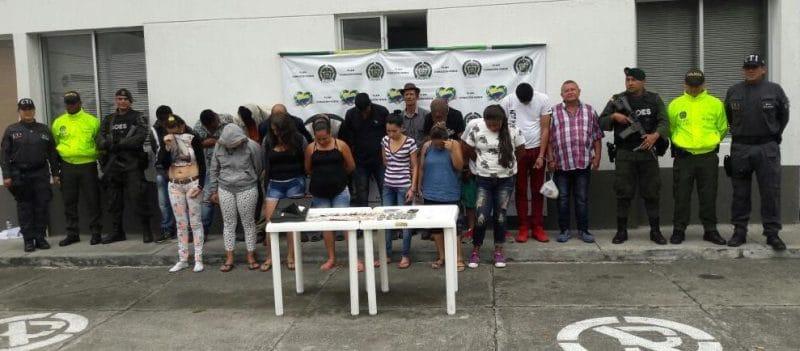 Cayó banda 'Los Culebros de la calle 12' dedicados al microtráfico de drogas