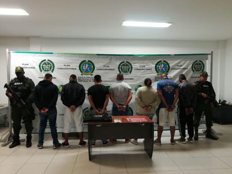 Detenidos seis presuntos extorsionistas de 'Los Bastantes' en Cali