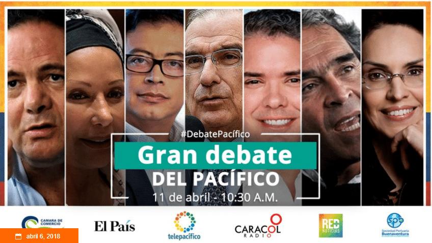En vivo: gran debate presidencial se toma la capital del Pacífico, Buenaventura