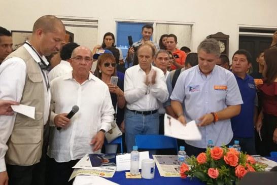 Iván Duque recibió apoyo de Partido Conservador liderado en Valle por Ubeimar Delgado