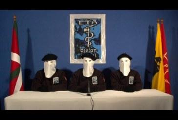 Grupo terrorista ETA reconoce daño causado a familiares de las victimas