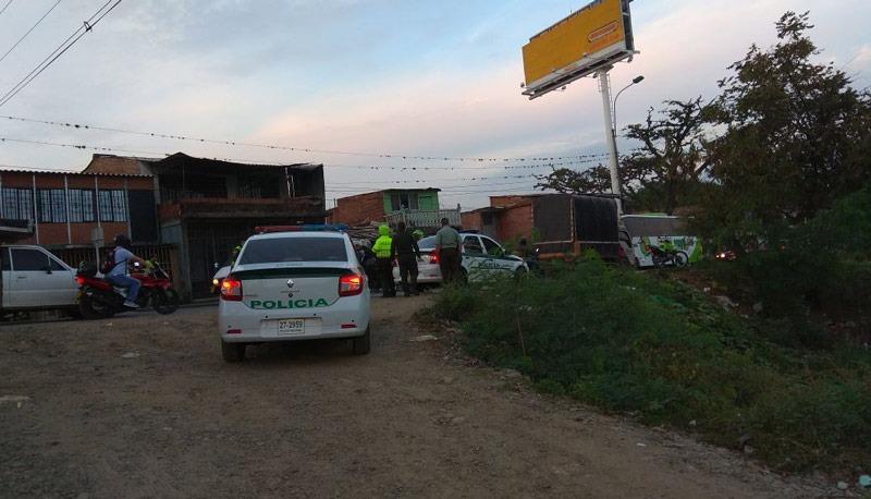 Ataque a una patrulla de la Policía generó traumatismo en el Puente de Juanchito