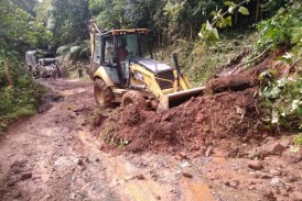 Zona rural de Pichindé presenta daños en la vía y en viviendas por derrumbes