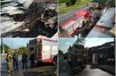 Incendio estructural en el barrio Mojica afecta varios locales comerciales
