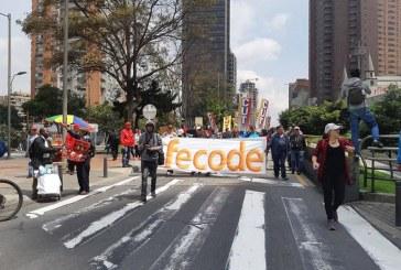 Fecode inició nuevo paro de maestros que se prolongará por 48 horas en el país