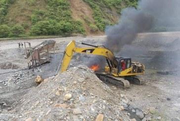 Fuerza pública neutralizó acciones ilegales de extracción de oro en el Cauca