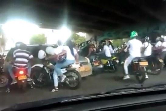 Caravanas fúnebres agresivas: así intimidaron motociclistas a conductores en Cali