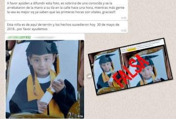 Fake News: desmienten mensaje de niña de Terrón raptada de las manos de una tía