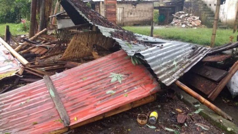 Tras fuerte vendaval en Alcalá, norte del Valle, 650 familias resultaron afectadas