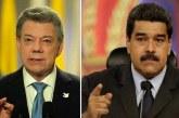 """Maduro llamó """"imbécil"""" a Santos por no reconocer elecciones en Venezuela"""