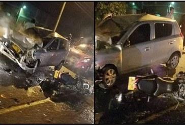 Una persona muerta y otra herida dejó aparatoso accidente en vía Cali – Candelaria