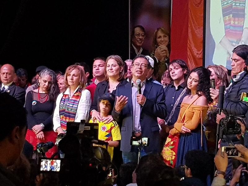 Petro propone acuerdo a Fajardo y De la Calle en su discurso después de jornada electoral