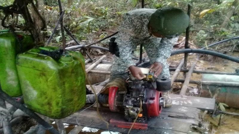 Autoridades realizaron operativo contra la minería ilegal en el Valle